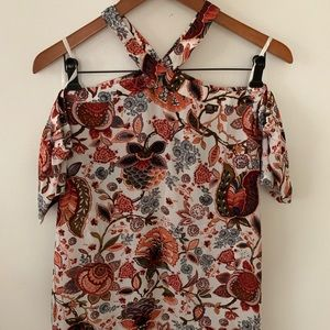NWT LOFT Halter Blouse with Sleeves
